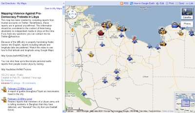 Monitoring Violence against protesters in Libya