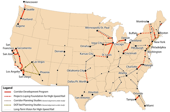 Department of Transportation Proposed Rail Corridors