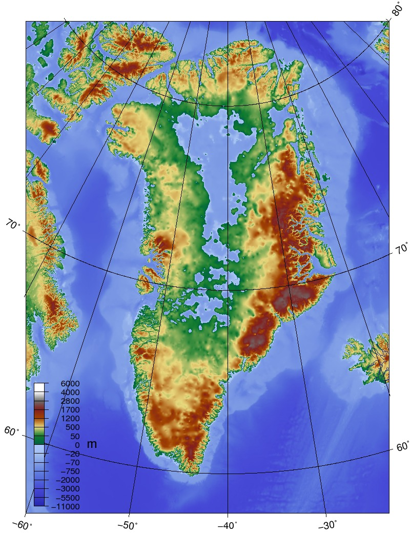 What Would Greenland Look Like Without The Icecap Maptd - Map of us after ice caps melt