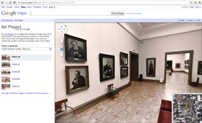 Google Art Project with Street View in Google Maps