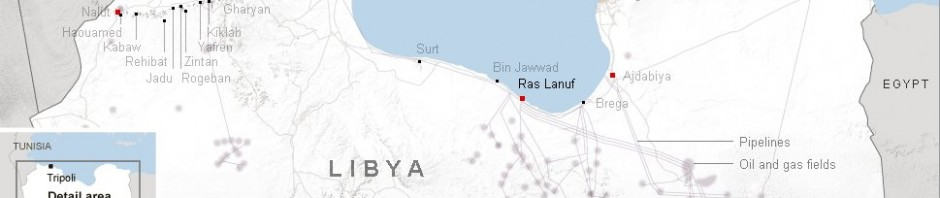 New York Times interactive map of Libya