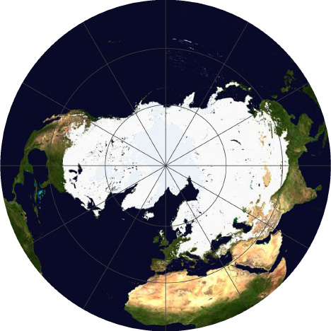 NOAA Snow Cover Compositie Image January 2011