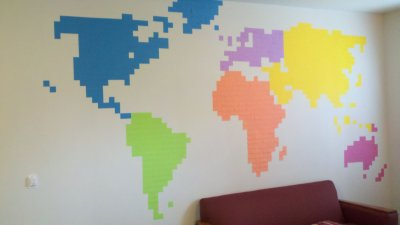 Giant Post-it Map