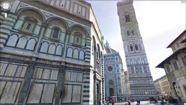 Basillica di Santa Maria del Fiore in Google Street View