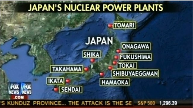 Fox News map fail, Japanese nuclear power plant nightclub