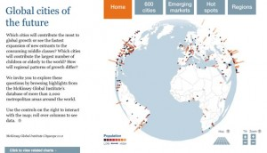 Global cities of the future from Mckinsey