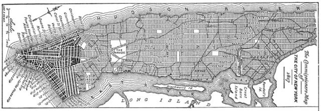 New York grid system map, 1811