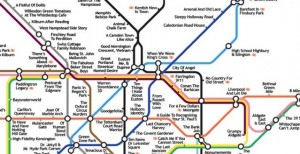 London tube map with movie names