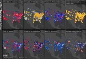 NCAA basketball fan maps from ESRI