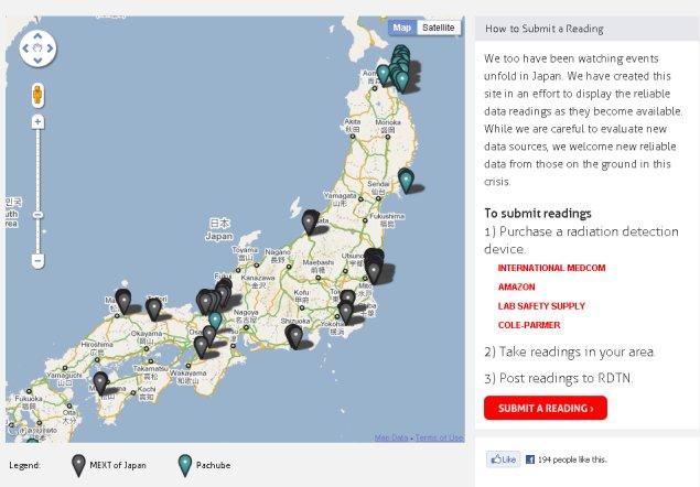 RDTN.org  Japan radiation monitoring