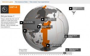 interactive time zone map from the bbc