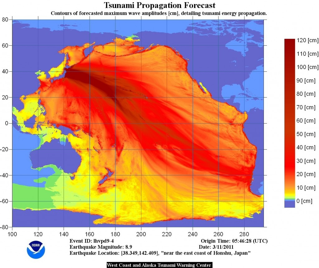 Japan Earthquake, Tsunami Pacific Propagation Forecast