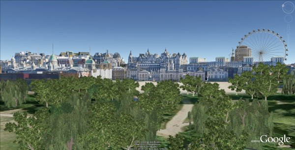 View from st james s park london new 3d models in google earth