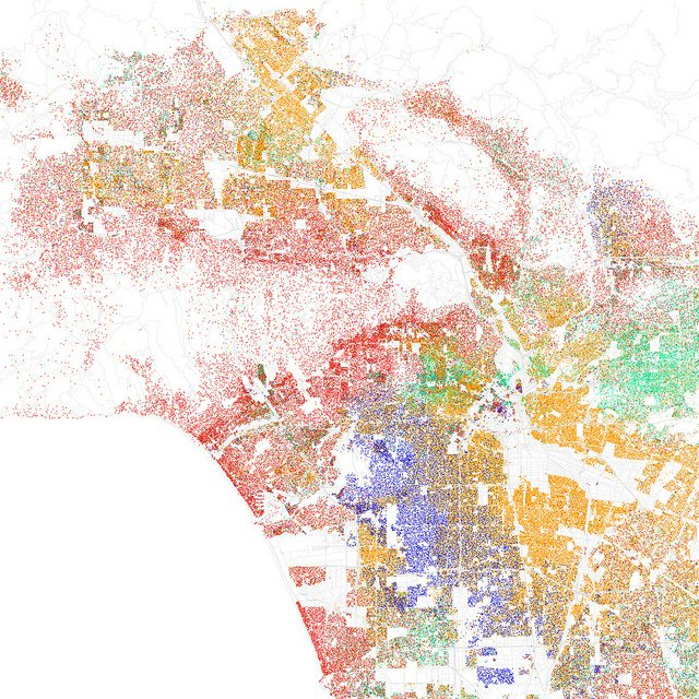 Los Angeles ethnicity mapped from the 2010 Census