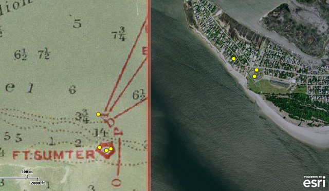 Fort Sumter, American civil war map