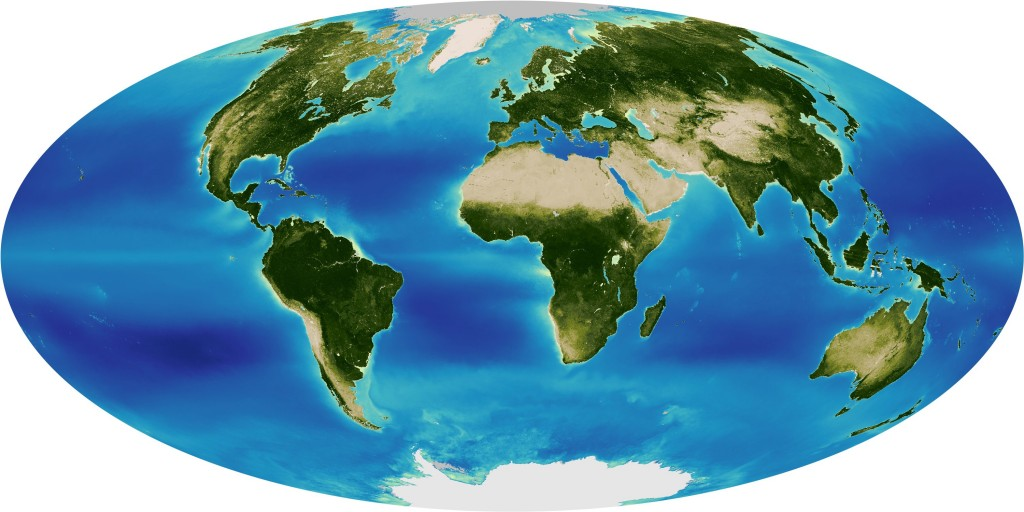 Thirteen years of global greening from SeaWiFS mapped
