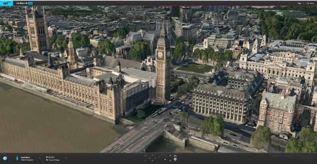 Big Ben, London 3D City Model in Ovi Maps 3D