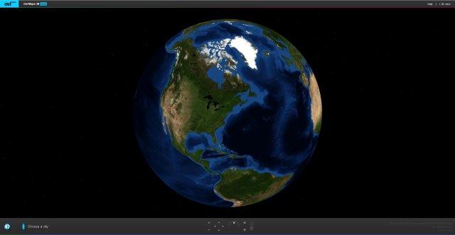 Ovi 3D Maps, globe view