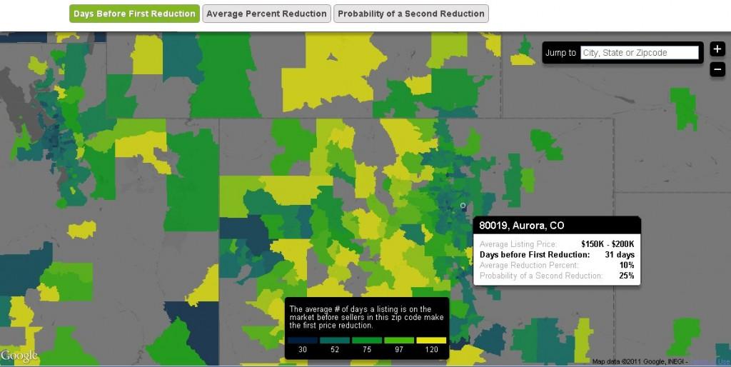 Trulia, price reductions map