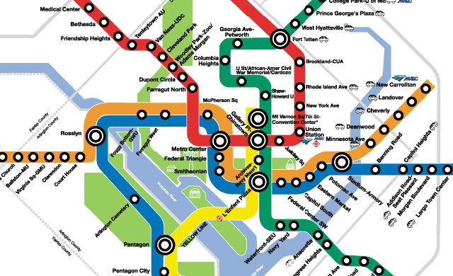 Official Washington Metro Map