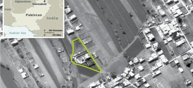Boundary of the Osama Bin Laden compound