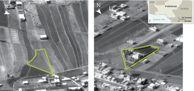 Satellite photograph Osama's compound  2004 vs 2011
