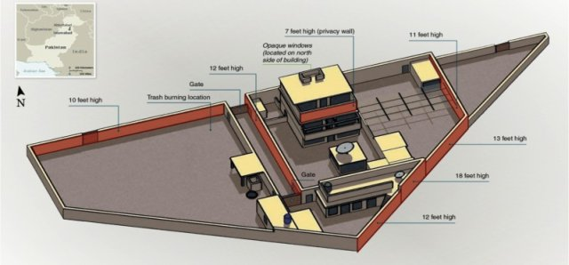 CIA diagram of Osama Bin Laden's residence