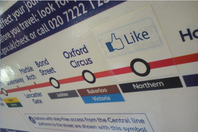 Facebook Like on the London Underground