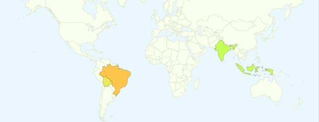Google Dengue Trends Map